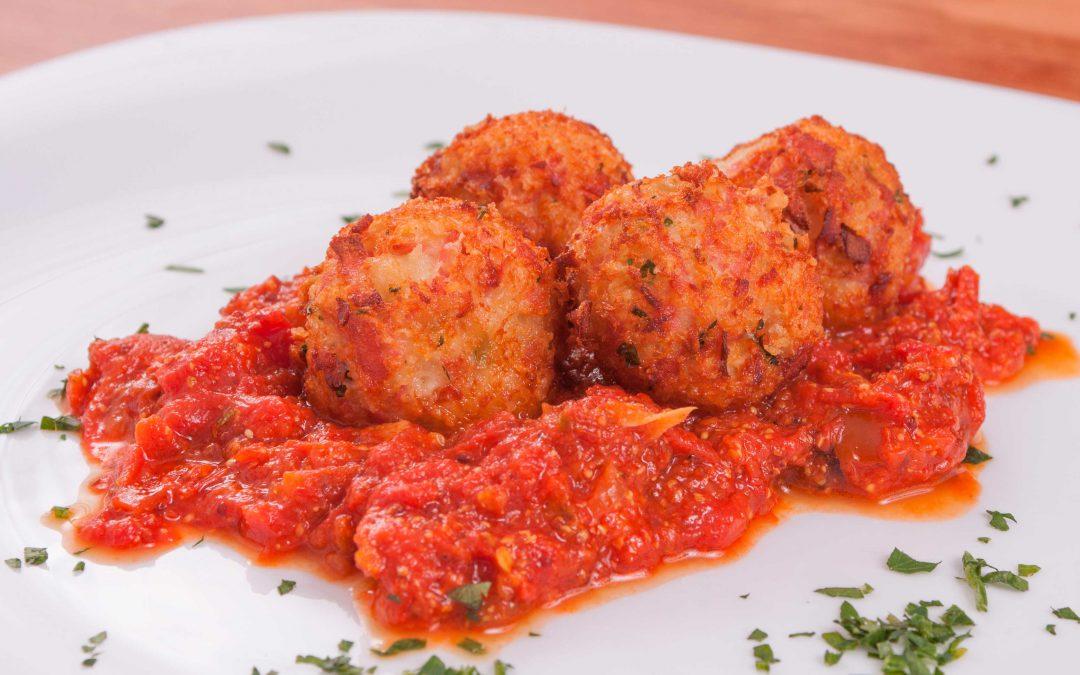 Albóndigas de bacalao y tomate