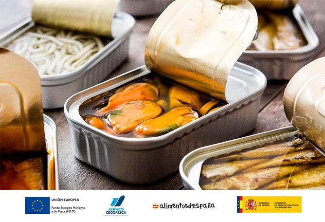 Fabricación de conservas de pescados y mariscos españolas