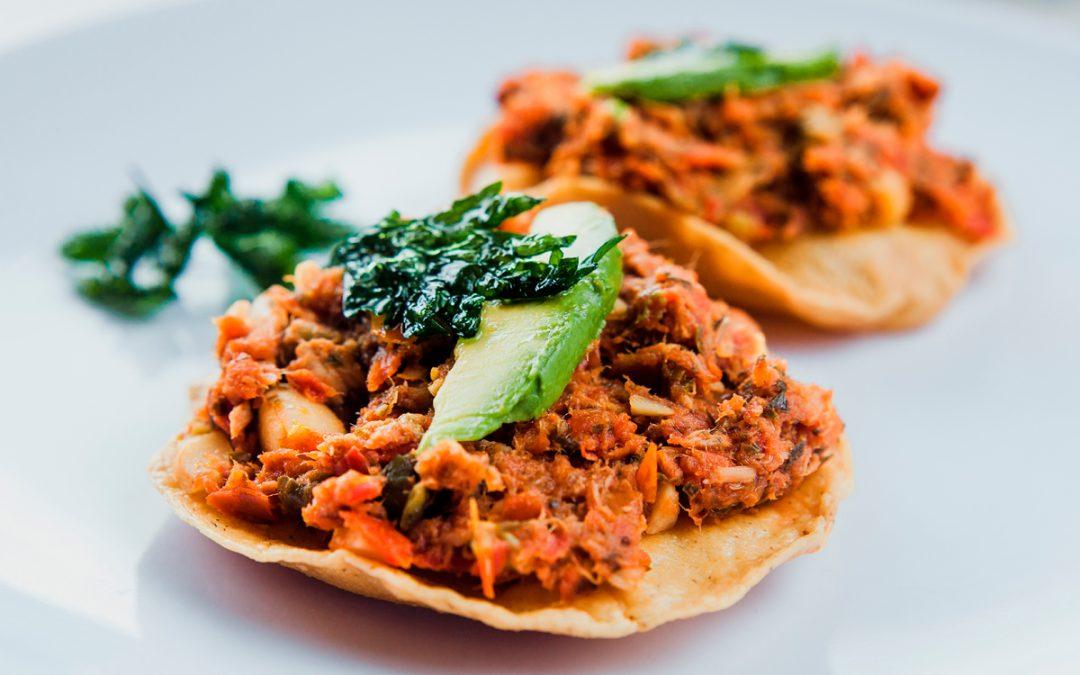Tortitas mexicanas con Bacalao a la Vizcaina